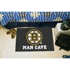 FANMATS NHL Black Area Rug