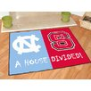 FANMATS NCAA North Carolina State House Divided Mat