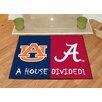 FANMATS NCAA Alabama Auburn House Divided Mat