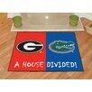 FANMATS NCAA Georgia Florida House Divided Mat
