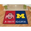 FANMATS NCAA Ohio State Michigan House Divided Mat