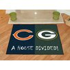 FANMATS NFL Chicago Bears - Green Bay Packers House Divided Doormat