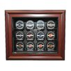 Caseworks International NHL Twelve Puck Cabinet Style Display Case in Mahogany