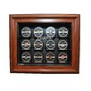 Caseworks International NHL Twelve Puck Cabinet Style Display Case in Brown