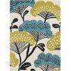 Sanderson Sanderson Beige & Teal Floral Area Rug