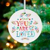 GreenBox Art You Are So Loved Ornament by Katie Daisy