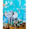 "GreenBox Art ""Big Sister Is Watching"" by John Baran Print of Painting on Canvas"