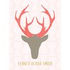 "GreenBox Art ""Deer Head Girl Personalized"" by Stacy Amoo Mensah Graphic Art on Canvas"