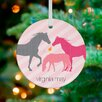 GreenBox Art Modern Horses Personalized Ornament by Stacy Amoo Mensah