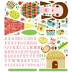 Oopsy Daisy 140 Piece Jilly Paper Doll Peel and Place Wall Decal Set