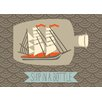 Oopsy Daisy Ship in a Bottle by Amy Blay Canvas Art