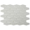 "The Bella Collection 3"" x 1"" Shiny Hexagon Tile in Mist"
