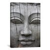 iCanvas Buddha's Face Photographic Print on Canvas