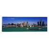 iCanvas Panoramic Buildings at the Waterfront, Detroit, Michigan Photographic Print on Canvas