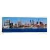 iCanvas Panoramic Buildings at the Waterfront, Delaware River, Philadelphia, Philadelphia County, Pennsylvania Photographic Print on Canvas