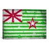 iCanvas Austin, Texas Flag - Grunge Painted Graphic Art on Canvas