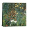 "iCanvas ""Bauerngarten mit Sonnenblumen (Flower Garden with Sunflowers)"" Canvas Wall Art by Gustav Klimt"
