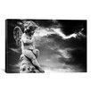 iCanvas Angel Sculpture Photographic Print on Canvas