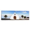 iCanvas Panoramic Chapel on a Hill, Tiagua, Lanzarote, Canary Islands, Spain Photographic Print on Canvas