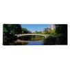iCanvas Panoramic Bridge across a Lake, Central Park, New York Photographic Print on Canvas