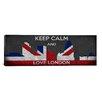 iCanvas Keep Calm and Love London Textual Art on Canvas