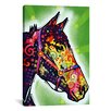 iCanvas Horse by Dean Russo Graphic Art on Canvas