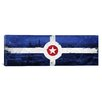iCanvas Indianapolis Flag, Indianapolis Vintage Panoramic Graphic Art on Canvas