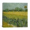 "iCanvas ""Field with Flowers Near Arles"" Canvas Wall Art by Vincent van Gogh"