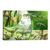 iCanvas Kids Children Jurassic Cartoon Dinosours Canvas Wall Art