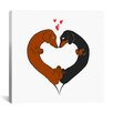 iCanvas Dachshund Heart Card by Brian Rubenacker Graphic Art on Canvas