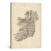 iCanvas 'Ireland Sheet Music Map' by Michael Tompsett Graphic Art on Canvas