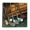 "iCanvas ""Club Line Up (Golf)"" Canvas Wall Art by William Vanderdasson"
