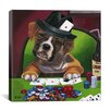 iCanvas Poker Dogs Jenny Newland Canvas Wall Art