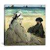 "iCanvas ""On the Beach"" Canvas Wall Art by Edouard Manet"
