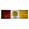 iCanvas San Diego Flag, City Skyline with Wood Planks Panoramic Graphic Art on Canvas
