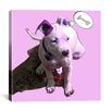 "iCanvas ""Pink Puppy"" by Luz Graphics Graphic Art on Canvas"