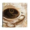 "iCanvas ""Le Cafe"" Canvas Wall Art by Color Bakery"