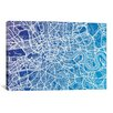 iCanvas 'London Street Map (Blue II)' by Michael Tompsett Graphic Art on Canvas