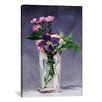 """iCanvas """"Ragged Robins and Clematis"""" by Edouard Manet Canvas Painting Print on Wrapped Canvas"""