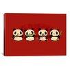 iCanvas 'Panda 2000' by Budi Satria Kwan Graphic Art on Canvas