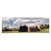 iCanvas Panoramic Old Barn under Cloudy Sky, Palouse, Washington State Photographic Print on Canvas