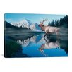 iCanvas Reflections of Glacier by Gordon Semmens Photographic Print on Canvas