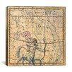 iCanvas Celestial Atlas - Plate 20 (Sagittarius) by Alexander Jamieson Graphic Art on Canvas in Beige