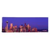 iCanvas Panoramic Washington, Seattle, Cityscape at Twilight Photographic Print on Canvas
