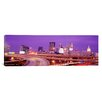 iCanvas Panoramic Georgia, Atlanta, Skyline at Dusk Photographic Print on Canvas