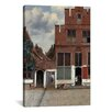 iCanvas 'Street in Delft' by Johannes Vermeer Painting Print on Canvas