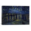 iCanvas 'Starry Night over the Rhone' by Vincent Van Gogh Painting Print on Canvas