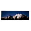 iCanvas Panoramic Star Trails over Mountains, Mt Rainier, Washington State Photographic Print on Canvas