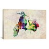 """iCanvas """"Scooter Vespa (Urban)"""" by Michael Tompsett Graphic Art on Canvas"""