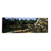 iCanvas Panoramic Statues in a Temple, Neak Pean, Angkor, Cambodia Photographic Print on Canvas